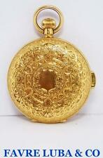 Antique Swiss 18k Gold FAVRE LUBA & CO MINUTE REPEATER Hunter Case Pocket Watch
