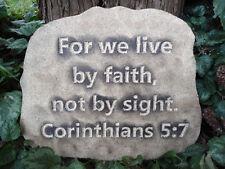 """Corinthians 5:7 mold plaque mould plaster concrete casting""""For We Live By Faith"""""""