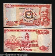 BOLIVIA 100 BOLIVIANOS P226 2001 UNIVERSITY UNC LATINO CURRENCY MONEY BANK NOTE