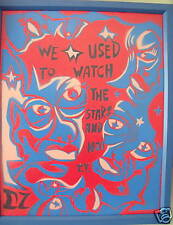 """DOUG Z: SPRAYPAINT SURREALIZM """"We Used To Watch The Stars Not TV"""" Painting"""