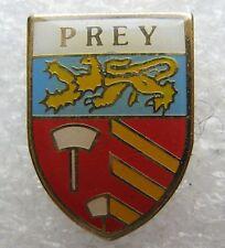Pin's Ville avec ecusson Lion Normandie PREY Eure (27) #1611