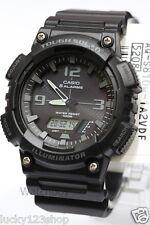 AQ-S810W-1A2 Black Casio Men's Watch Tough Solar 5 Alarms Analog Digital Resin