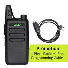 WLN Walkie Talkie Set 2-way Ham Radio UHF400-470MHz Handheld + Program Cable