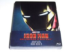 IRON MAN TRILOGY BLU-RAY COLLECTION STEELBOOK LIMITED EDITION IMPORT NEW 1 2 3