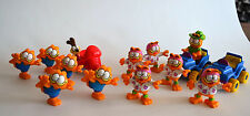 Vintage 1988 LOT of 14 McDonalds Mixed GARFIELD Pvc Figure Toys Safari Jeep Odie