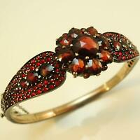 Antique Early to Mid Victorian Garnet Bangle - Vintage Fine Jewellery
