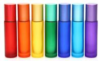 5x 10ml Roll On Leerflasche Glasflasche Stahlkugel für Ätherisches Öl Parfüm Neu