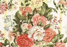 Mill Creek Fabric RW Elizabeth Floral Striped  Cotton Drapery Upholstery