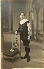 RELIGION CARTE POSTALE PHOTO COMMUNIANT MARCEL DUBOIS 1921