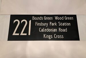 "221 Bounds Green Caledonian Finsbury Park Kings +  London Bus Blind 12Nov87 34"""