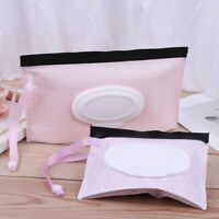 1Pc Portable Baby Wipes Bag Pouch Convenient Cosmetic Clean Wet Wipes B JR
