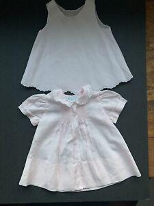 Feltman Brothers Pink Lace Vintage Slip Dress 3 Months Baby Girls smocked (RR)