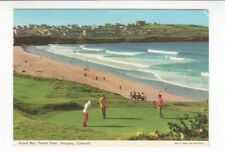 Postcard. Fistral Bay, Pentire Point, Newquay, Cornwall.Pitch and Putt.