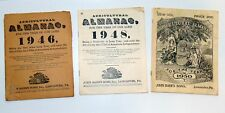 Lot Of 3 Agricultural Almanac 1946, 1948 and 1950