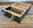 VINTAGE+Wooden+Box+Joint+Storage+Cabinet+Tool+Gun+Collectibles+Case+%E2%98%86USA
