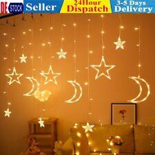 138 LED Sonne Mond &Stern Fairy Schnüre Ramadan Urlaub Dekoration Licht Deko De