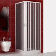 Box cabina doccia soffietto 90x90 angolare quadro acrilico riducibile a 80x80cm