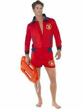 Baywatch Lifeguard Mens Fancy Dress Stag Party Costume Outfit Adult Sexy 80s TV