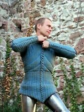 Medieval Costume Gambeson Reenactment Roman Blue Color Amazing Style