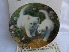 Bradex/Knowles Cat Theme Collectors Plate - White American Shorthairs