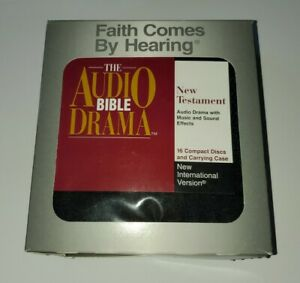 """Bible New Testament ON CD """"FAITH COMES BY HEARING 16  DISC SET IN CASE Audiobook"""