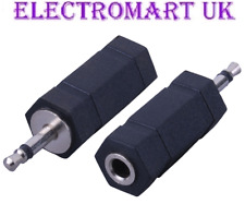 2 X 3.5MM MINI MONO JACK PLUG TO 3.5MM MINI STEREO JACK SOCKET ADAPTOR