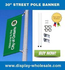 "Street Pole Banner Bracket 30"" -Hardware Only"