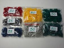 KNEX CONNECTORS MIX Red Yellow Green Gray Metallic Blue Silver+ Parts/Pieces Lot