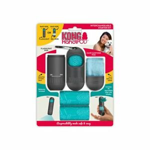 KONG HandiPOD Starter Kit with Antibac Hand Gel, Poop Bags, LED Torch & Clip