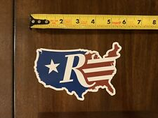 """Remington Flag Map Firearms US Flag Decal Sticker Approx 5.5"""""""