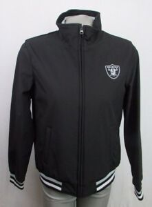 Oakland Raiders Full Zip Soft shell Jacket, Women S, M Black NFL