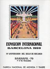 España 50 Aniversario Sello recargo Barcelona 1929 año 1979 (CG-800)