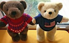 Ralph Lauren Polo Jointed Teddy Bears (2) 2000 1996
