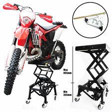Tech7 Hydraulic Scissor 135kg Bike Motorcycle Lift With 4 Wheel Motorbike ATV