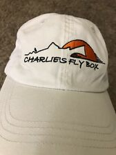 Charles Fly Box Trout Salmon Beige Day 1  Fly Fishing Baseball Cap Hat