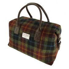 Authentic Harris Tweed Overnight Bag Holdall Green/Brown Checked LB1006 COL 59