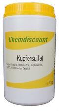 1kg Kupfersulfat Kupfervitriol Cuso4 Blaustein (-pentahydrat)