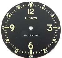 SUPER RARE cWW2 / WITTNAUER 8 DAYS AIRCRAFT / ARMY CLOCK DIAL.