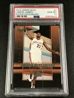 LEBRON JAMES 2003 UPPER DECK #1 ROOKIE EXCLUSIVES RC PSA 10 GEM MINT THE KING