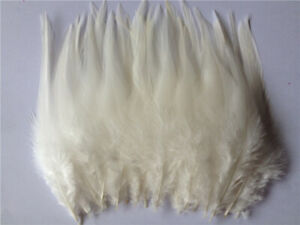 Beautiful 30pcs Beige rooster tail little feathers 2-4inches / 6-10cm