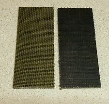 BLACK AND OLIVE DRAB GREEN BURLAP MICARTA KNIFE HANDLE SCALE BLANKS 1/4""