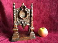 Porte-montre Maçonnique à Rose-Croix - en Bois Sculpté Monoxyle - Art Populaire