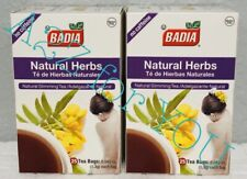 Badia-Natural Herbs Slimming/Slim Tea  Lose Weight 25 tea bags. 2pack 50 Bags.