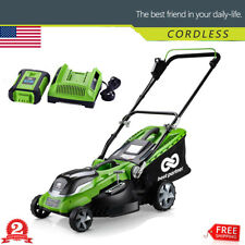 16inch 40V Max Lithium Cordless Lawn Mower w/ 4.0Ah Battery & Charger Green New