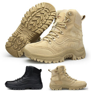 UK MENS ARMY COMBAT PATROL BOOTS TACTICAL POLICE WALKING MILITARY SHOES SIZE NEW