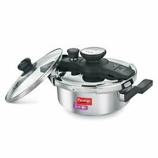 Prestige Clip On Stainless Steel Induction Pressure Cooker With Glass Lid 3 L