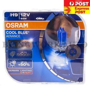 OSRAM H9 5000K Cool Blue Advance 65W White Halogen Light Bulb Globe for VF VE