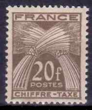 1943-46 FRANCE Timbres-taxe Y & T N° 77  Neuf* avec charnière