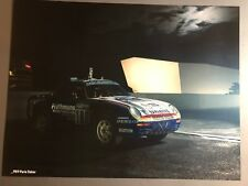 1986 Porsche 959 Paris-Dakar Coupe Showroom Advertising Sales Poster RARE!! L@@K