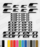 CARRERA Vinyl Decals Stickers Bike Frame Cycle Cycling Bicycle Mtb Road